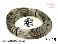 Stainless Steel Wire Rope 3.2mm 7x19  10 metre G316 marine grade Shade Sail