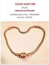22CM Pre-owned Pandora 14K Gold Bracelet, 550702