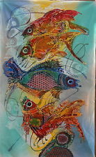 Pesci ASTRATTO Pittura Batik art.