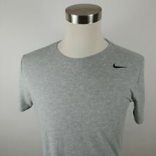 Mens Polyester Blend Dri Fit Athletic Cut Ss Heather Gray The Nike Tee Shirt M