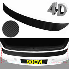 4D Premium Black Accessorie Carbon Fiber Car Rear Guard Bumper Sticker Protector