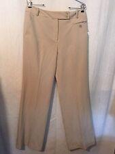 Dressbarn Pants Sz 10 Stone Trouser Leg Polyester Blend New 170431