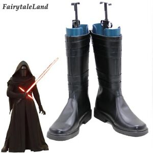 Kylo Ren Cosplay Boots Star Wars The Force Awakens Costume Accessory Shoes