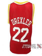 CLYDE DREXLER, Houston Rockets NBA, Vintage, Champion, Red Jersey, Size: 44