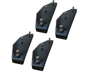 4 - John Deere 310, 410, 510 Backhoe Stabilizer Pad - 3 Bolt - AT195669