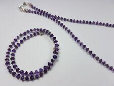 AMETHYST Natural Necklace Semi Precious Handmade Gemstone Stone Beads Healing