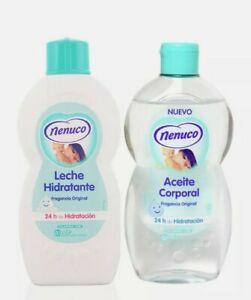 Nenuco Body Oil And Body Milk/ 400ml Each Aceite Corporal Y Leche Hidratante