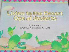 Teacher Big Book LISTEN TO THE DESERT Spanish Englis SCHOLASTIC Kindergarten 1st