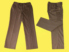 elegante Damenhose - Hose v. TONI DRESS / braun -gestreift Gr. 38