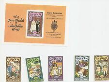Silver Jubilee Queen Elizabeth II 1977 Commonwealth  Antigua 5 New Stamps & Mini