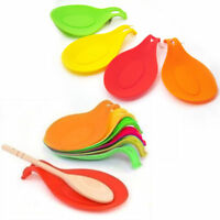Silicone Spoon Rest Heat Resistant Kitchen Utensil Spatula Holder Cooking Tool !
