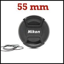 TAPA DELANTERA OBJETIVO 55 mm NIKON CON PINZA CENTRAL, REFLEX DSLR