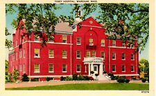 Vintage Color Linen Postcard Tobey Hospital, Wareham, Mass