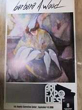 """Barbara A. Wood """"Doves"""" 1980 Art Expo West Poster Art Print 24"""" X 38"""" Numbered"""