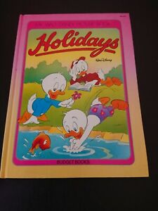 Vintage My Walt Disney Picture Book Holidays Hardcover 1987 Budget Books
