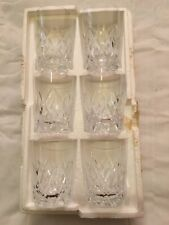 More details for 6 vintage old hall bridge lead crystal small tumblers glasses