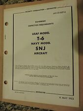 RARE HANDBOOK INSPECTION REQUIREMENTS USAF MODEL T-6