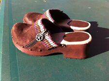 Women's Xhilaration Slip on Clogs Size 4, Brown