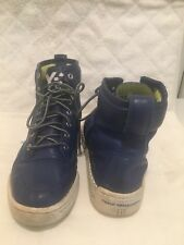 d22045fc7efe7 YAMAMOTO YOHJI Y-3 HIGH TOP SNEAKERS ALL BLUE LEATHER SHOES SZ 9