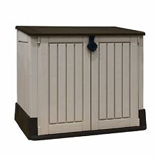 Keter Woodland Midi Store It Out Plastic Storage Shed Lockable Tools Garden