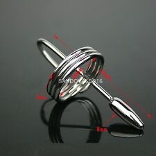 NEW STAINLESS STEEL URETHRAL PENIS PLUG SOUNDS NO THROUGH-HOLE FREE SHIP