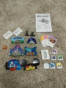 Disney Magic Kingdom Board Game Replacement Parts Pieces Huge Lot