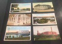 6 Vntg Washington DC Postcards Smithsonian Lib. of Congress Pan American