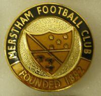 MERSTHAM FOOTBALL CLUB Football Enamel Lapel Pin Badge NON LEAGUE