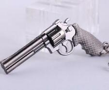 Revolver Pistol ​Weapon Mini Gun Model Metal Keyring Keychain Key Ring Chain ^