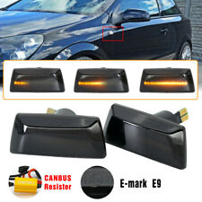 2x Amber LED Side Indicator Repeater Light For Opel Vauxhall Adam Astra Corsa