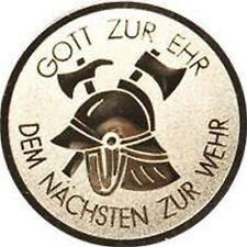 25 Embleme D:50mm Feuerwehr (Medaillen Pokale Pokal Emblem Feuerwehrmann)