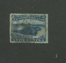 1877 Newfoundland Harp Seal 5 Cents Postage Stamp #40