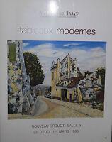 1990 Catálogo De Venta Demuestra Color Drouot Pizarras Moderno