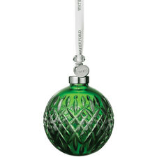 2019 Waterford Ornament Crystal Emerald Ball 40035473