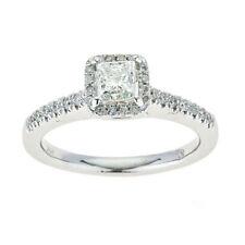 Anelli con diamanti F in oro bianco VS1