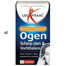 Lot de 2 x 30 capsules Lucovitaal Ogen Scherp zien & vochtbalans 02/2021