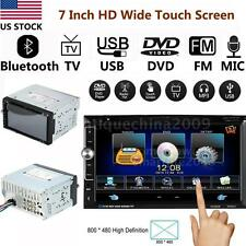 "7"" HD 2 Din Car Stereo DVD Player Aux Input FM Radio Bluetooth USB/TF Video H6F1"