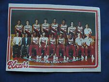1980-81 Topps Team Pin-Ups Blazers #14 team photo basketball NBA