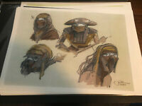 Star Wars Production Used Concept Art Print Lucasfilm Constable Zuvio Jake Lunt
