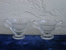 Cambridge Rose Point Individual Creamer and Sugar with Pie Crust Edge