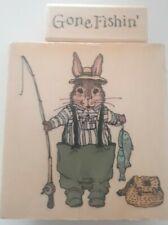 Holly Pond Hill Edmund Fishing / Gone Fishing Rod Reel Rabbit Rare Retired Guy