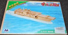WOODEN TOY 3D JIGSAW AIRCRAFT CARRIER PUZZLE 100%  COMPLETE   NEW FACTORY SEALED