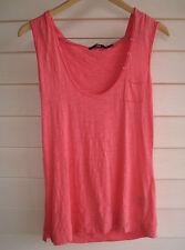 Sportsgirl Women's Pink Singlet Top with Hood - Size M