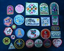 Vintage Lot of 25 Girl Scout Encampment Patches Badges - 1980's & 1990's