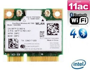 + Intel 7260 AC 7260HMW Dual Band 5Ghz 867Mbit/s WLAN+Bluetooth Mini PCIe +