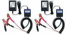 Set of 2 12 Volt Automatic Car Battery Float Trickle Charger