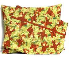 Monkeys Toddler Pillow and Pillowcase set Green Cotton #Cg13 New Handmade