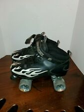 Rock Skates Speed Freak Ghost Roller Skates w white/gray Flame Gray Wheels Sz 11