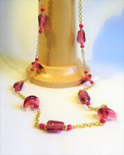 CG5168...LONG HANDMADE LAMPWORK GLASS BEAD NECKLACE - FREE UK P&P