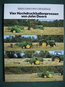 John Deere  Hochdruckballenpresse Prospekt von 1975 -  Landmaschinen JD